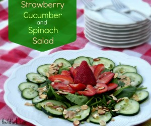 Strawberry Cucumber and Spinach Salad - TheFitFork.com