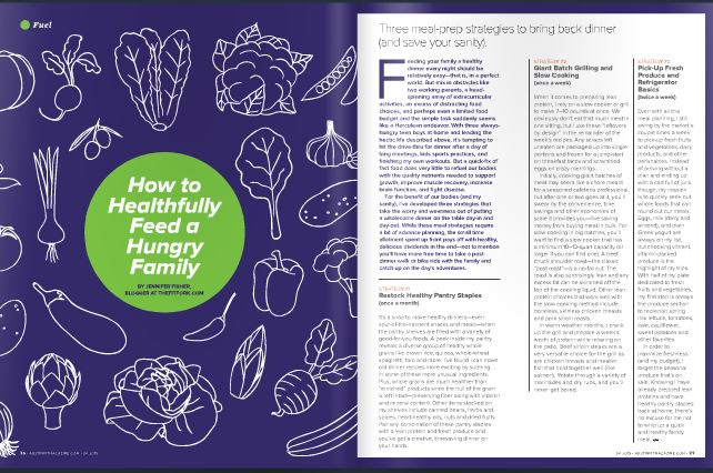 Austin Fit Magazine April 2015 - How to Feed a Healthfully Feed a Hungry Family - Jennifer Fisher