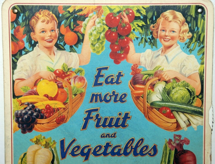 vintage fruit and vegetable poster
