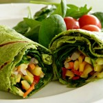 Southwestern Roasted Veggie Wraps, Veggie Snacks & Workouts