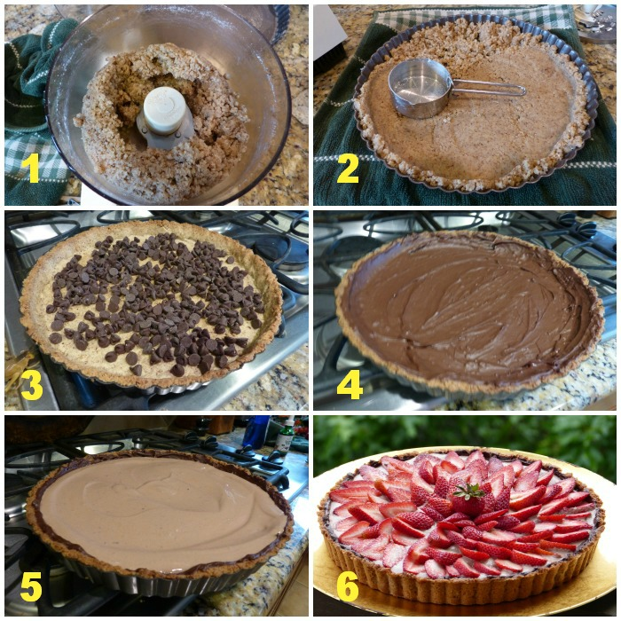 steps for strawberry tart making