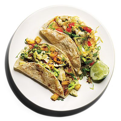 Chimichurri Halibut Tacos from Cooking Light!