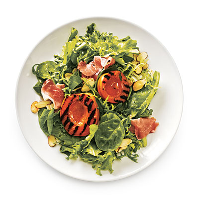 I love this Cooking Light idea for grilled apricots on my salad!