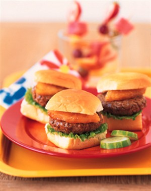 beef burger pineapple sliders