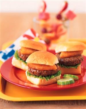 beef burger pineapple sliders