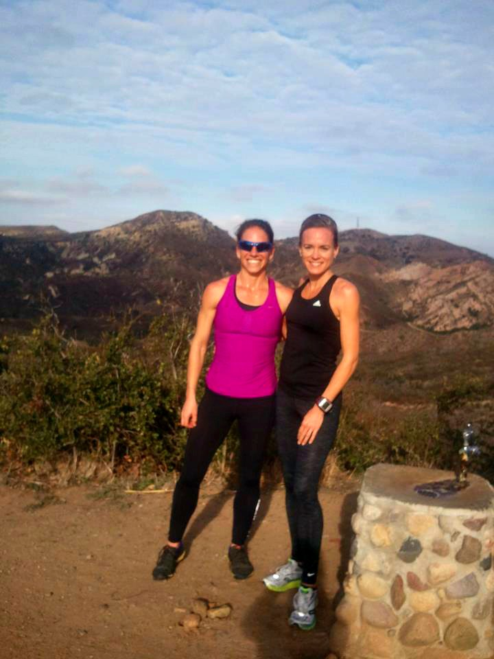 On top of the world & running from mountain lions at CrossFit Endurance Camp in CA.