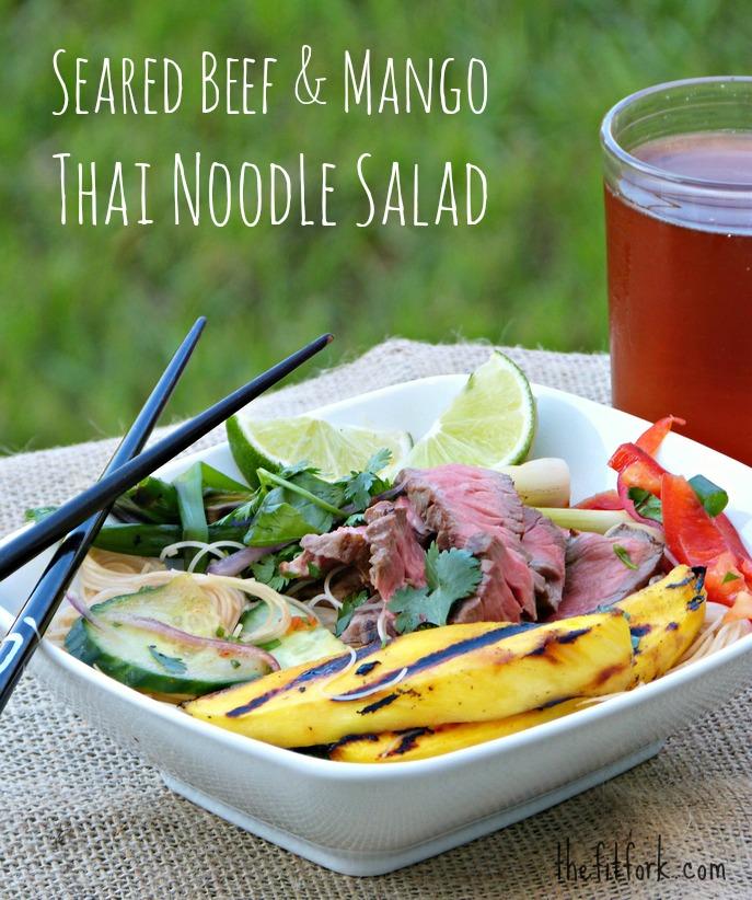 seared beef mango thai salad