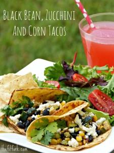 veggie black bean tacos