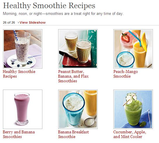 healthy smoothies cooking light