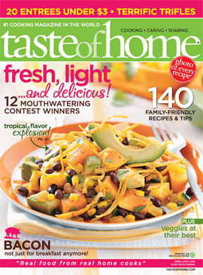 2010 MAy taste of home cover