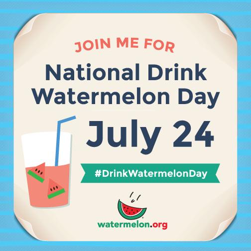 july 24 drink watermelon badge