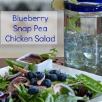 Blueberry Snap Pea Salad & Blueberries for Dessert
