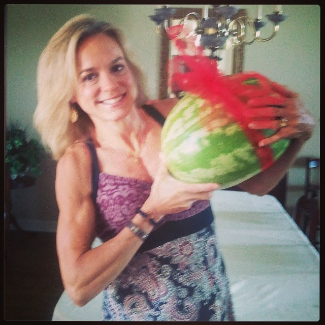 Someone special reads my blog and gave me a watermelon for my birthday!