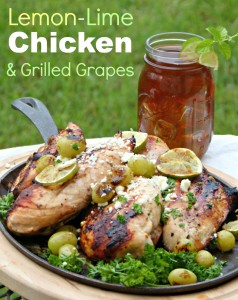 grilled citrus chicken and grapes