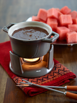 watermelon chocolate fondue