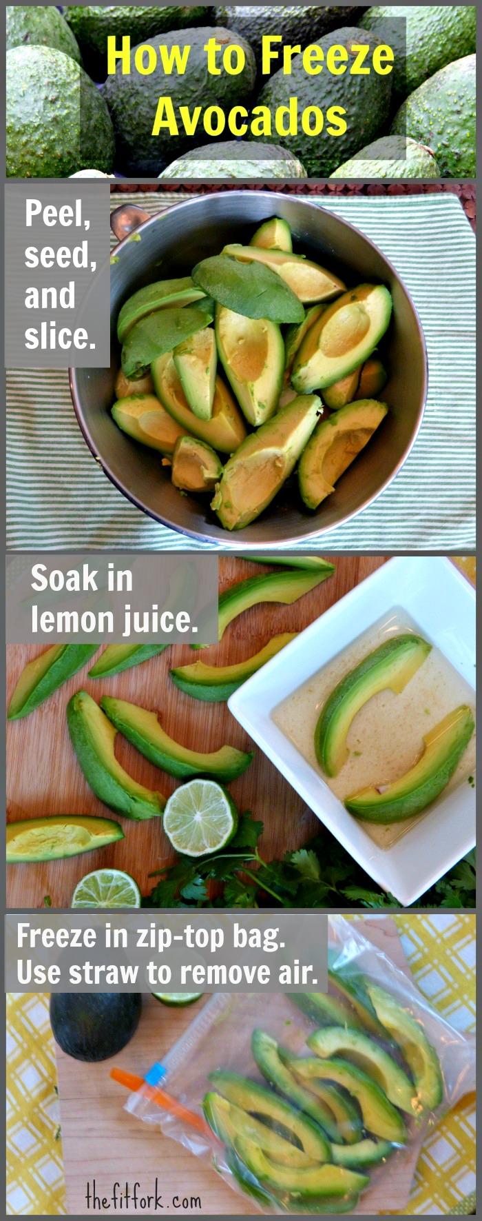 freezing avocado slices