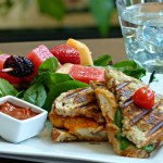 Fast Chicken Spinach Parm Panini & 8 Back Stretches for Flexibility