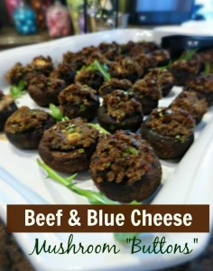 thefitfork beef bluecheese mushrooms plated small text