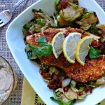 Paleo Pecan-Paprika Tilapia on Bacon Brussels Sprout Toss + Fit Foodie 5k