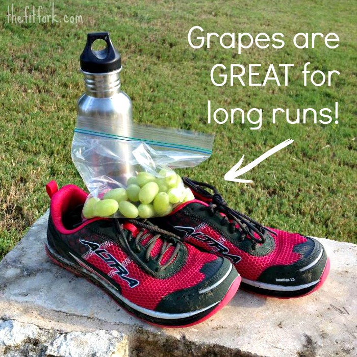 grapes and running shoes