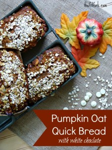 pumpkin oat white chocolate bread overhead loaves