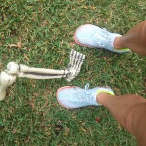 skeleton shoes running