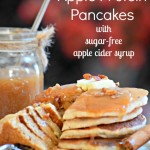 Apple Protein Pancakes with Sugar-Free Cider Syrup