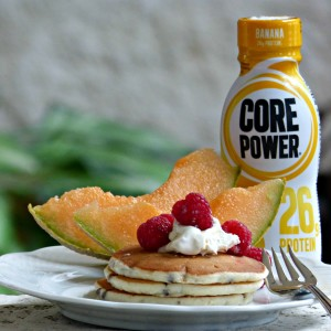 Pancakes made with Core Power - TheFitfork.com