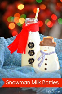 Snow Men Milk Bottles - Kid's Craft - TheFitFork.com