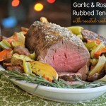 Garlic & Rosemary Rubbed Tenderloin and Roasted Root Vegetables - TheFitFork.com