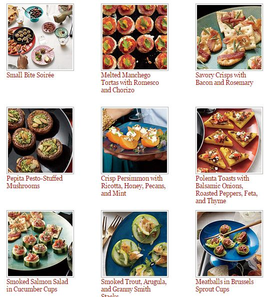 Holiday Appetizers from Cooking Light