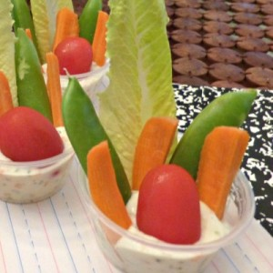 Veggie Cups with Dip - TheFitFork.com