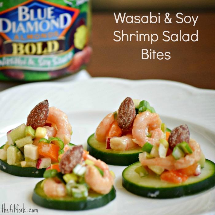 Wasabi and Soy Sauce Shrimp Salad Bites - TheFitFork.com