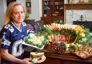 Healthy Snack Stadium for Football Party - TheFitFork.com