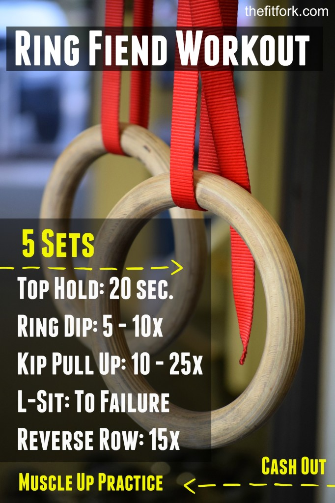 Gymnastics Ring Fiend Workout - TheFitFork.com