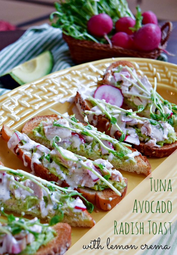 Tuna Avocado Toast - The Fit Fork