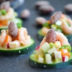 Wasabi and Soy Shrimp Salad Bites with Almonds - TheFitFork.com