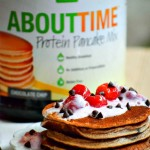 Tart Cherry Chocolate Chip Protein Pancakes & Ab Workout #TryAboutTime