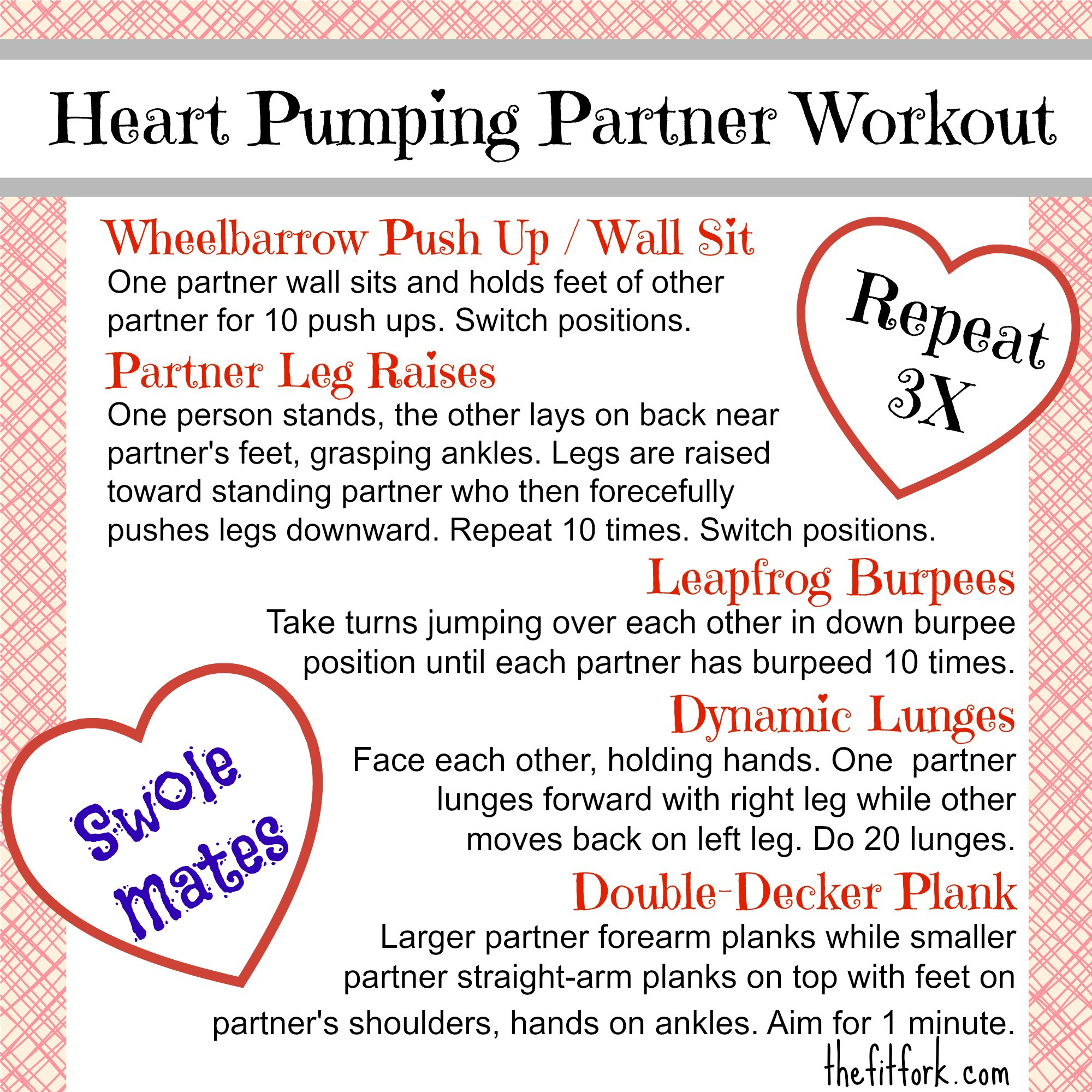Heart Pumping Partner Workout - TheFitFork.com