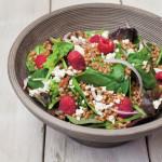 Raspberry & Feta Salad with Wheat Berries