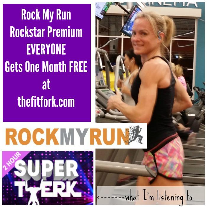 One Free Month RockMyRun.com Premium Rockstar Membership