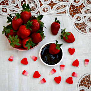 Strawberries and Chocolate Dip - TheFitFork.com