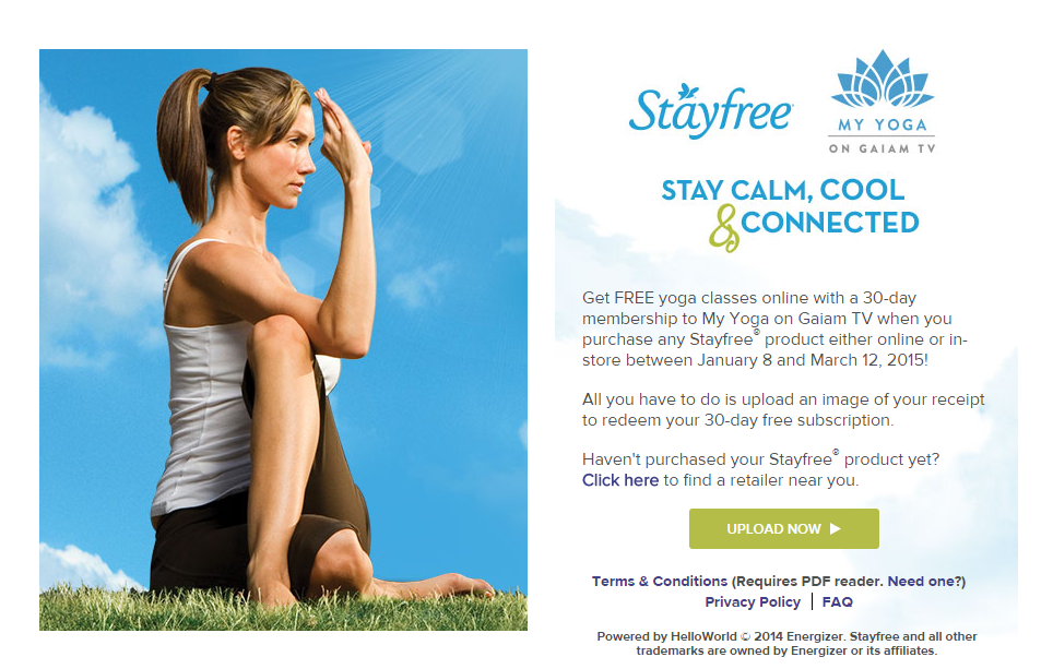Stayfree My Yoga Gaiam TV Offer