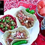 Brisket Tacos with Spicy Watermelon BBQ Sauce and Watermelon Rind Relish - TheFitFork.com