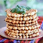 Green Chile Cornbread Waffles - TheFitFork.com