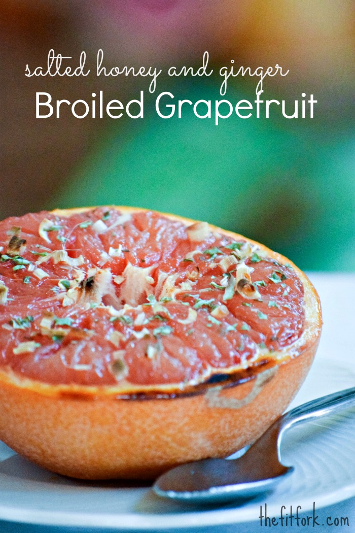 Honey and Lemongrass Broiled Grapefruit - TheFitFork.com