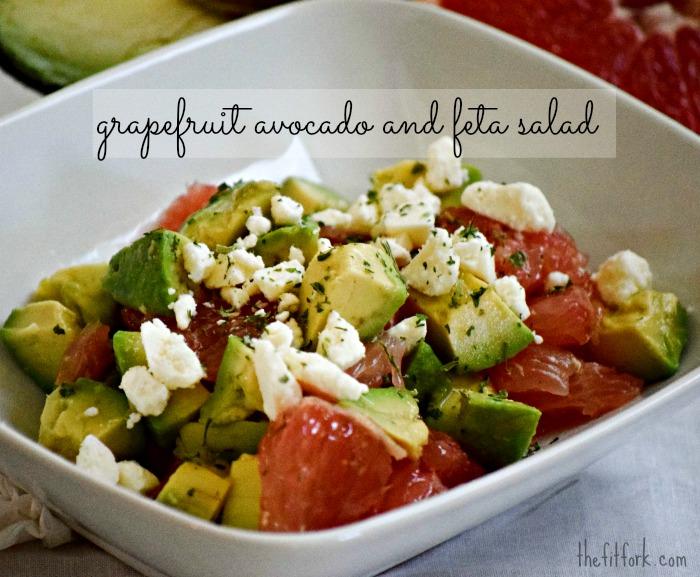 Grapefruit, Avocado, Feta Salad - TheFitFork.com