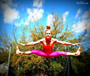 Trampoline Straddle Jump - TheFitFork.com