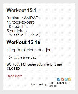 CrossFit Games Open WOD 15.1