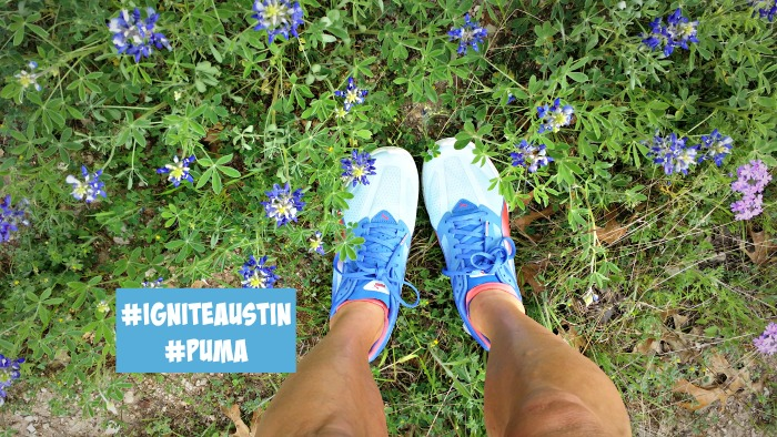 Puma Ignite Running Shoes in Austin Spring Flowers Trail Run